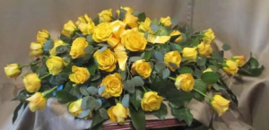 Casket Spray Roses (pictured with 3 dozen)
