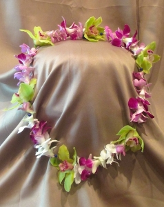 Hawaiian Style Lei with Orchids