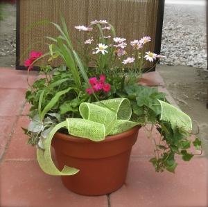 Spring Planter with Bow